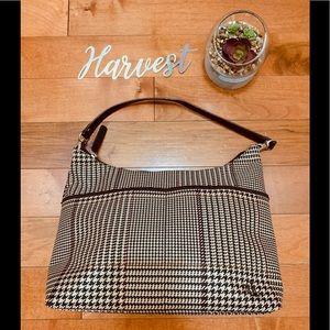 Lauren Ralph Lauren houndstooth hobo shoulder bag